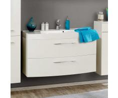 Waschtisch in Hochglanz Weiß 100 cm