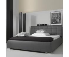 Polsterbett mit Kunstlederbezug Grau