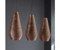 Hängeleuchte in Kupferfarben Metall Tropfenform