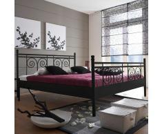 Bett für Jugendzimmer Schwarz Eisen