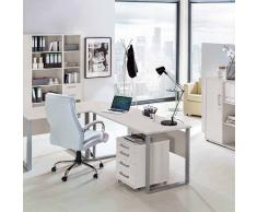 Schreibtischcontainer in Hellgrau 3 Schubladen