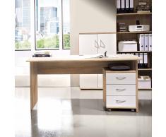 Schreibtisch in Eiche Sonoma Rollcontainer (2-teilig)