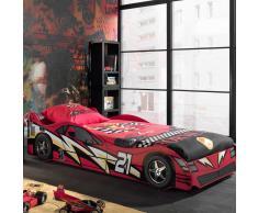 Jungen Autobett im Rennwagen Design Rot