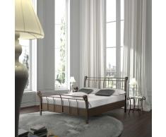 Bett aus Metall Braun