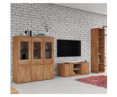 Wohnzimmermöbel buche massiv  Wohnwand Massivholz » günstige Wohnwände Massivholz bei Livingo kaufen