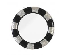 Spiegel in rund Schwarz-Silber