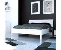 Bett in Hochglanz Weiß modern
