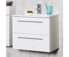 Waschtischunterschrank in Weiß mit Becken