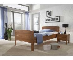 Einzelbett aus Holz mit Komforthöhe
