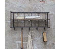 Hängegarderobe aus Metall Holz massiv