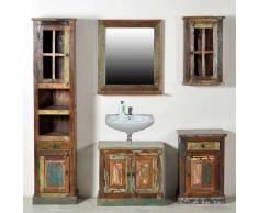 Badezimmer Komplettset aus Massivholz Shabby Chic (5-teilig)