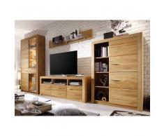Wohnzimmer Anbauwand aus Asteiche modern (4-teilig)