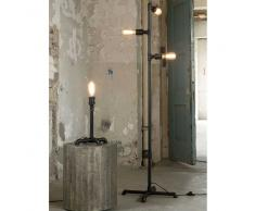 Industry Stehlampe in Schwarz Metall