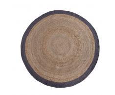 Runder Teppich aus Sisal  Beige Grau