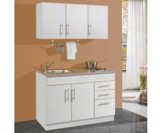 Miniküche in Weiß Kochplatten (3-teilig)