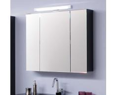 Badezimmer Spiegelschrank mit Beleuchtung 80 cm breit