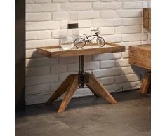 Industry Nachttisch aus Wildeiche Massivholz Glas