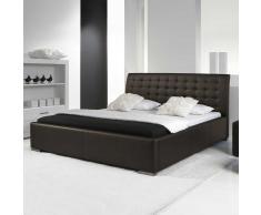 Doppelbett in dunkel Braun