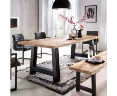 Esszimmertisch mit Eisengestell Baumkante
