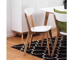 Stuhl Set in Weiß Eiche modern (2er Set)