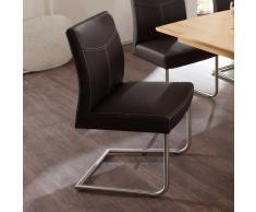 Schwingstuhl in Braun ergonomisch (2er Set)