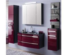 Badezimmer Set in Violett Hochglanz Anthrazit  modern (5-teilig)