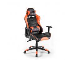 Ergonomischer Bürostuhl in Schwarz Orange Racer Design