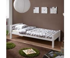 Jugendbett in Weiß Buche Massivholz