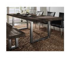 Esszimmertisch aus Eiche Massivholz Braun
