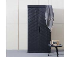 Schlafzimmer Kleiderschrank in Schwarz Kiefer