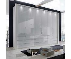 Faltüren Kleiderschrank in Weiß modern