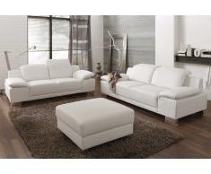 Couchgarnitur mit Kunstlederbezug mit verstellbaren Rückenlehnen