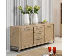 Sideboard aus Akazie Massivholz Grey Wash