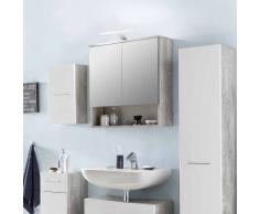Bad Spiegelschrank in Beton Grau mit Ablage