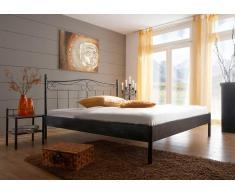 Doppelbett aus Metall Dunkelbraun