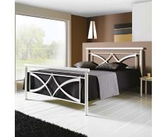 Metallbett in Weiß modern