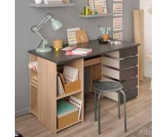 Jugendzimmer Schreibtisch in Eiche Grau