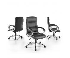 Büro Chefsessel in Schwarz Armlehnen