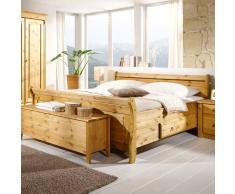 Doppelbett aus Kiefer Massivholz Landhaus