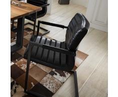 Schwingstuhl mit Armlehnen Loft Design (2er Set)