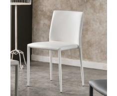 Polsterstuhl in Weiß ergonomisch (4er Set)