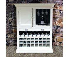 Weinschrank in Weiß skandinavischen Landhausstil