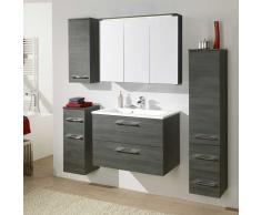 Badezimmer Set in Graphit Grau komplett (5-teilig)