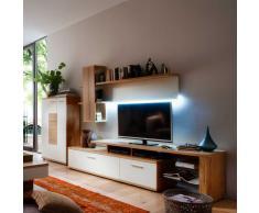 Wohnzimmermöbel weiß massiv  Wohnwand Massivholz » günstige Wohnwände Massivholz bei Livingo kaufen
