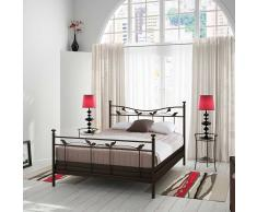 Bett im Landhausstil Metall