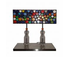 Ausgefallene Tischlampe in Bunt Metall und Kunststoff