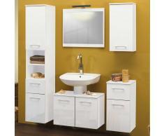 Badezimmer Kombination in Weiß Hochglanz (5-teilig)