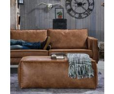 Leder Hocker in Braun Sofa