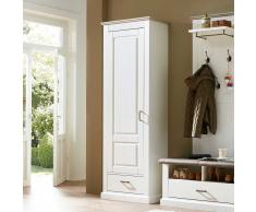 Garderobenschrank in Weiß skandinavischer Landhausstil