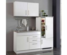 Miniküche in Weiß Kühlschrank (4-teilig)